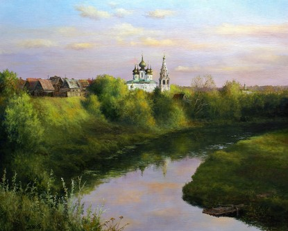 Evening over Suzdal. August